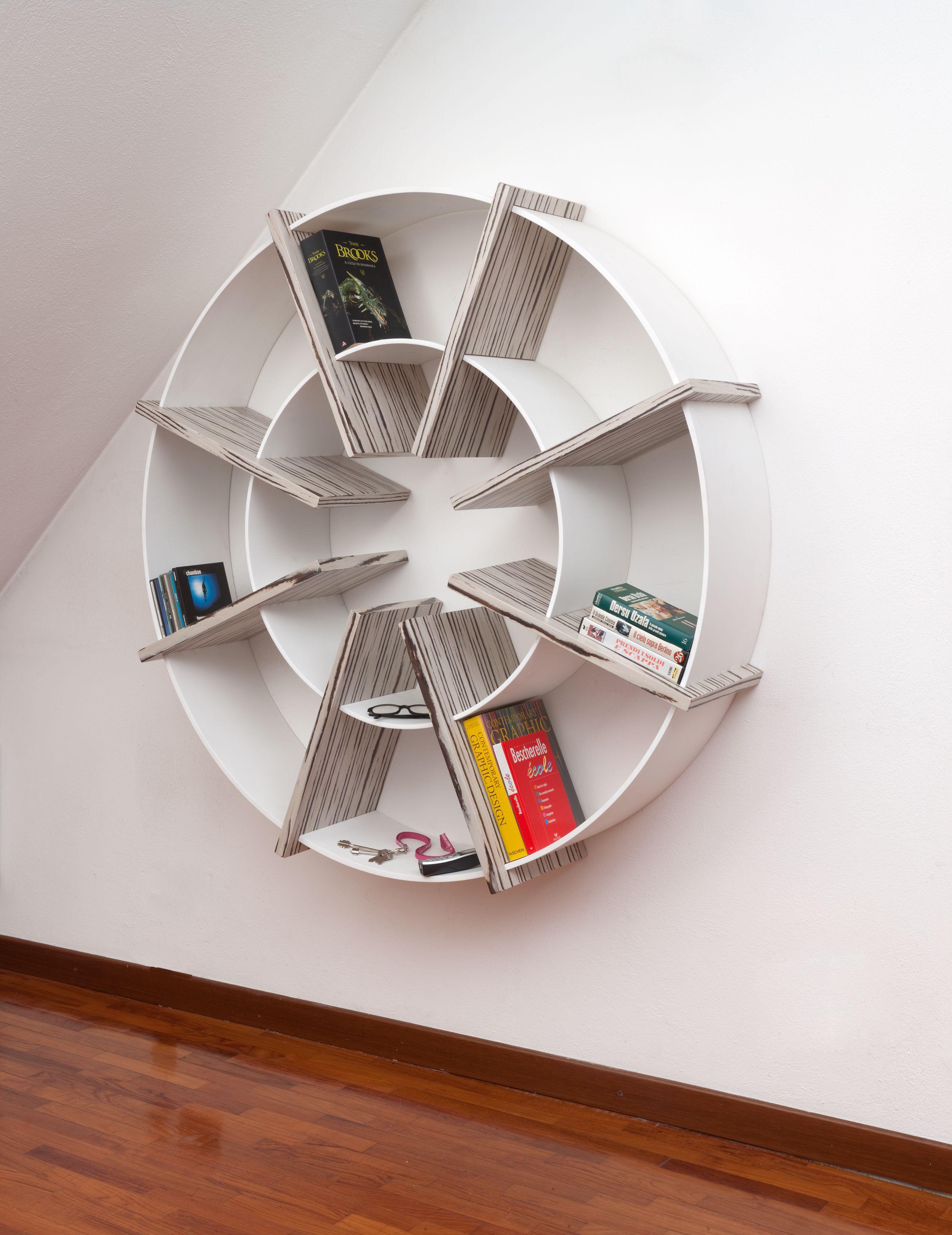 GIOTTO - libreria rotonda design - Villa Home Collection