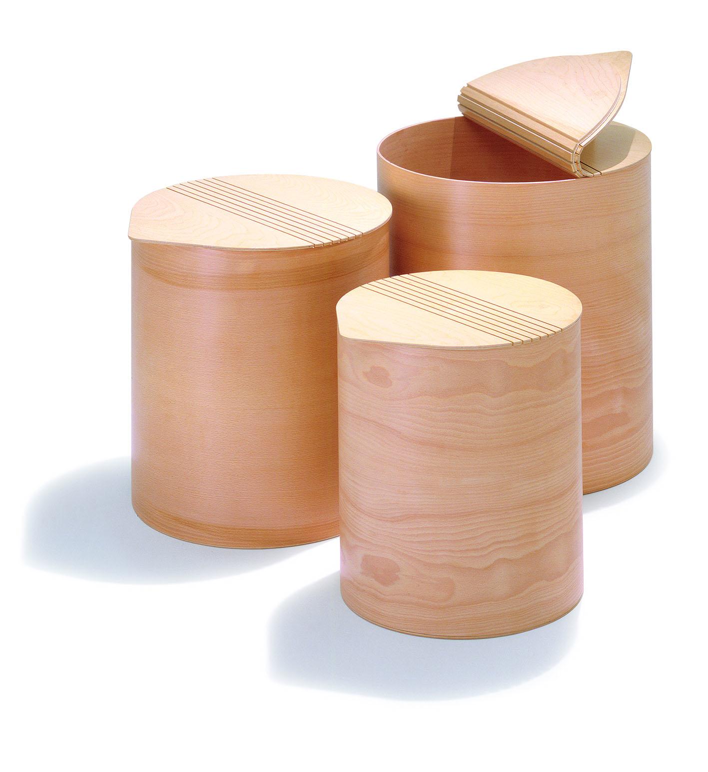 Pinketta contenitore portabiancheria rotondo in legno - Portabiancheria design ...