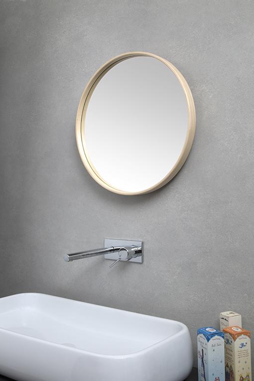 hoop specchio rotondo cornice legno-villahomecollection - Specchi Rotondi Per Bagno