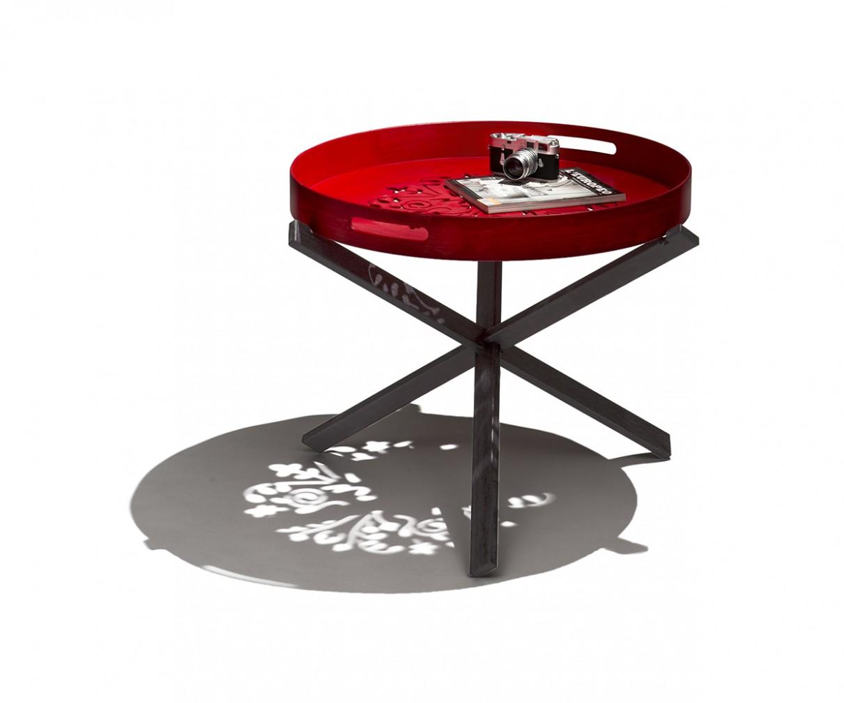 Tavolino Con Vassoio Asportabile.Tripodino Tavolino Con Vassoio Asportabile